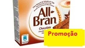 barras cereais chocolate All Bran Kellogg's 240gr.