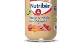 boião refeição frango vitela e legumes Nutribén 235gr.