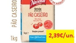 farinha para pão caseiro Nacional