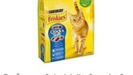 ração para gato adulto crunchy e tender com salmão Purina Friskies 1,5kg.