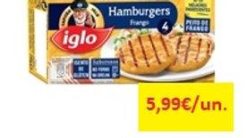 hamburguers de frango sem glúten Capitão Iglo 240gr
