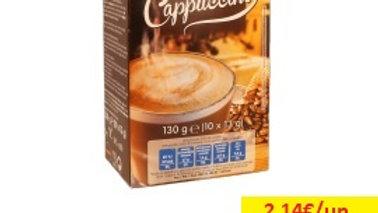 café solúvel cappuccino saquetas Amanhecer R 10x13gr.