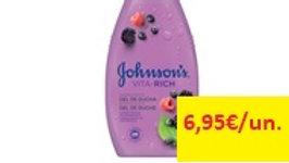 gel banho vita-rich frutos vermelhos Johnson's  750ml.