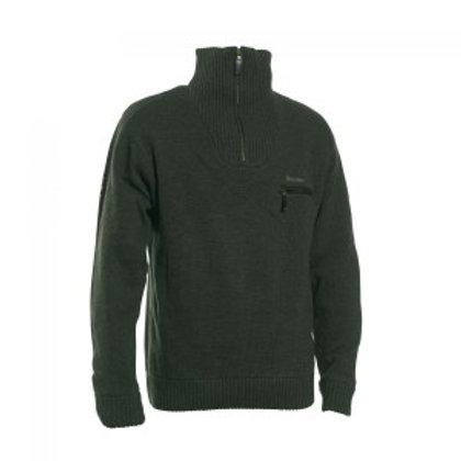 Kendal Knit wear zipneck dark green