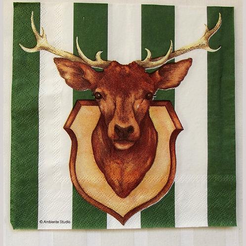 servetten hertenkop - serviette cerf