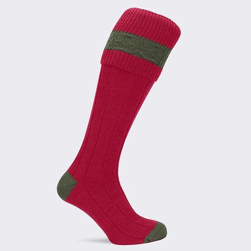 Pennine Byron sock Ruby/olive
