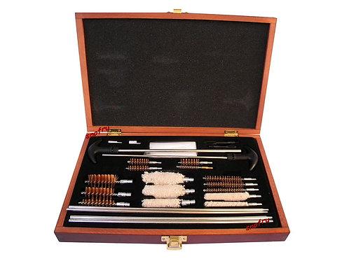 shotgun & rifle cleaning kit in wooden box