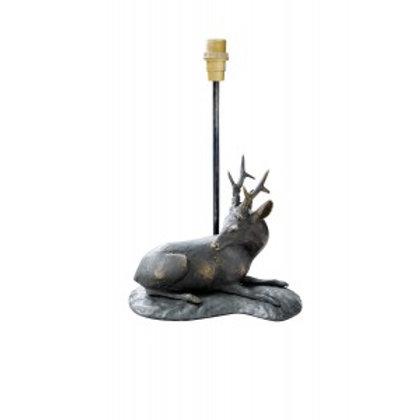 Bronzen lamp liggende ree - lampe chevreuil chouche