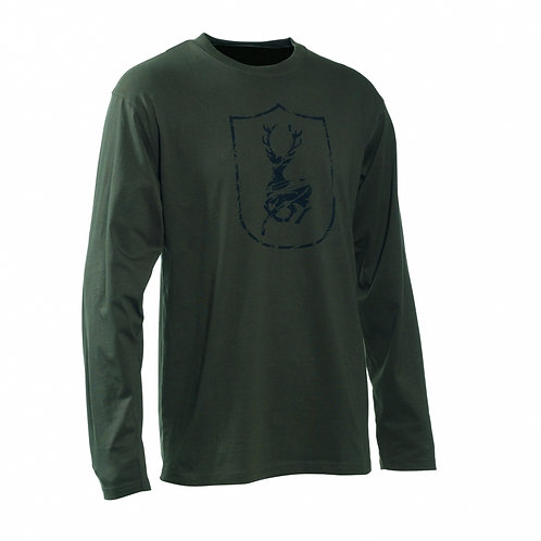 T-shirt shiels logo dark green
