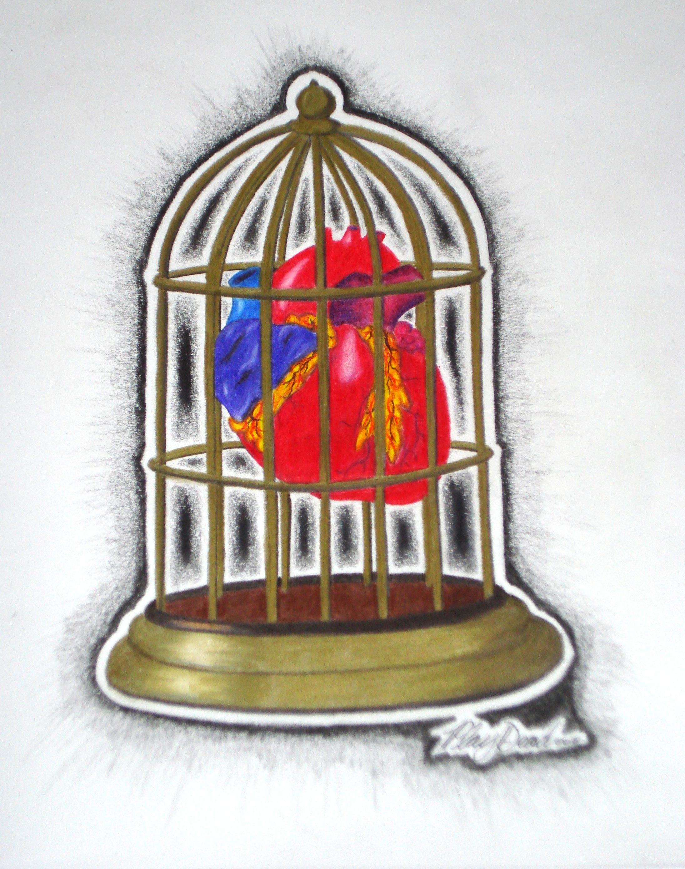 Heart in Cage (Still Available)