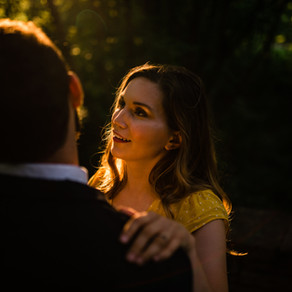 Glenwood Gardens Engagement Session at Sunset