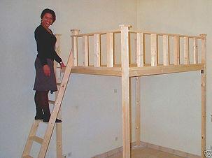 lits mezzanine et les lits superposés