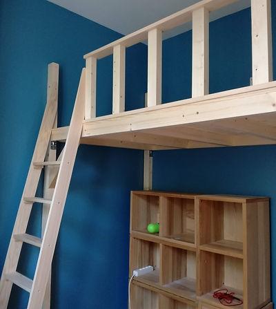 Mezzanine et lit mezzanine et Mezzanine sur mesure :Augmentez vos surfaces,Un étage en plus! ou en kit Décoration poutres apparentes Différentes longueur ...