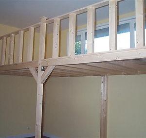 Mezzanine et lit mezzanine et mezzanine sur mesure : Augmentez vos surfaces,  Un étage en plus Ajustable sur place Différentes longueur profondeurs  Escalier interchangeable à votre convenance Plusieurs hauteurs sous plancher Mezzanine en bois sur mesure Vous souhaitez réaliser une mezzanine bois