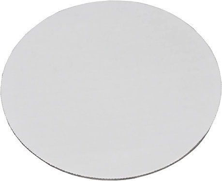 """8"""" Corrugated Grease-Resistant White Cake Circle (Pack of 10)"""