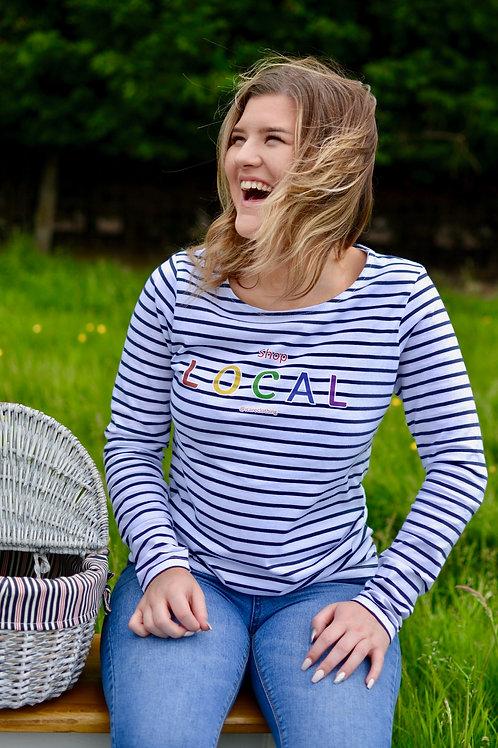 Summer Sale Ladies Long Sleeve Striped Breton