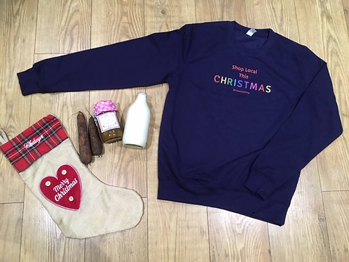 Adult's Unisex Shop Local This Christmas Jumper