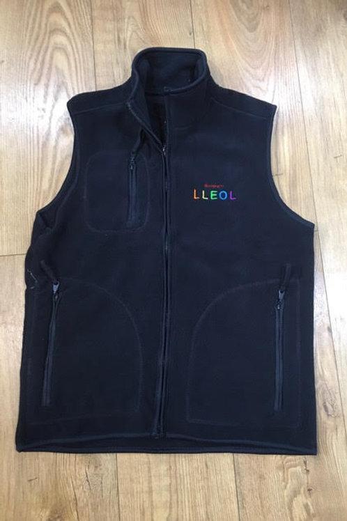 Summer Sale Unisex Fleece Siopa'n Lleol Navy Gilet