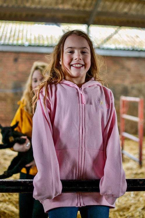 Childrens Pink Zip Hoodie