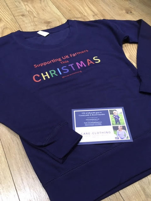 Adult's Unisex Supporting UK Farmers This Christmas Jumper