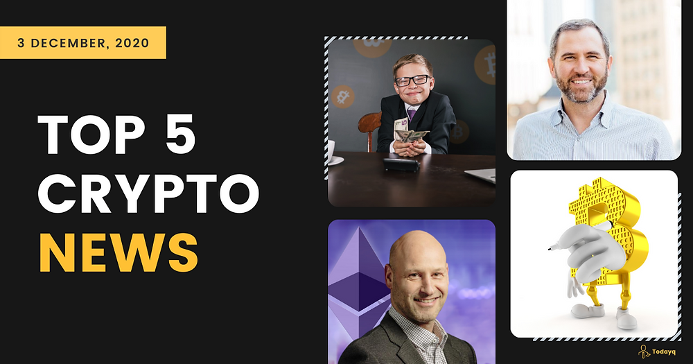 Joseph Lubin on Ethereum 2.0 to Dumb twin regretting not buying BTC, Read Today's Top 5 Crypto News
