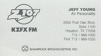 Jeff Young - KZFX Houston