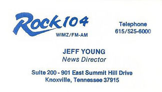 Jeff Young  - WIMZ News Director