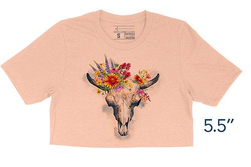 Texas Wildflower Gothic Peach - Crop Top