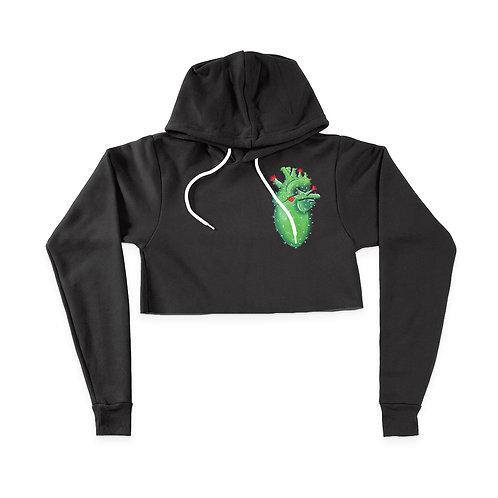 Cactus Heart - Hoodie Crop Top