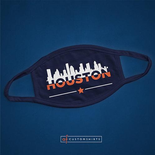 Houston City Skyline - Navy