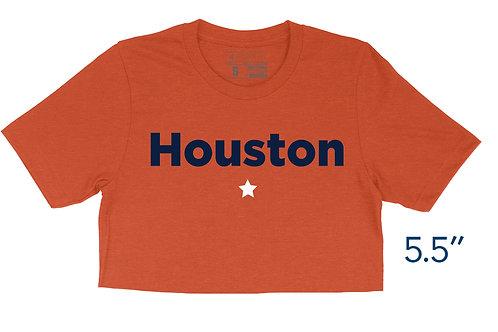 Houston Star Heather Orange - Crop Top