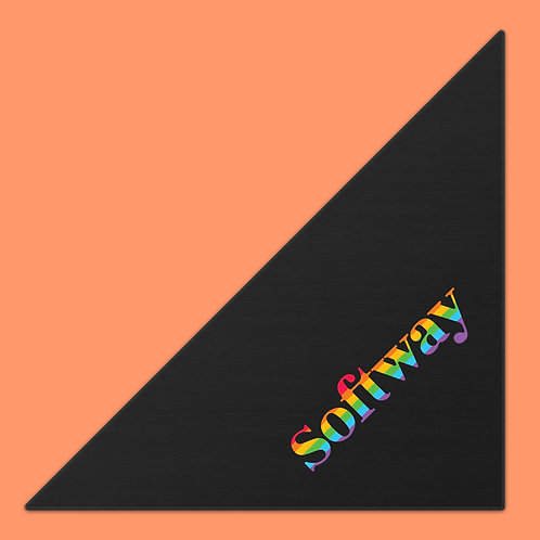 Softway Logo Rainbow Dog Scarf