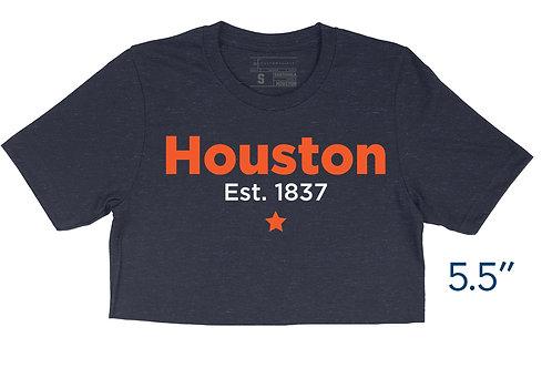 Houston Star Heather Navy - Crop Top
