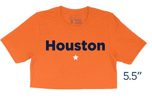 Houston Star Orange - Crop Top
