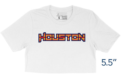 Houston Rainbow 8-bit- Crop Top