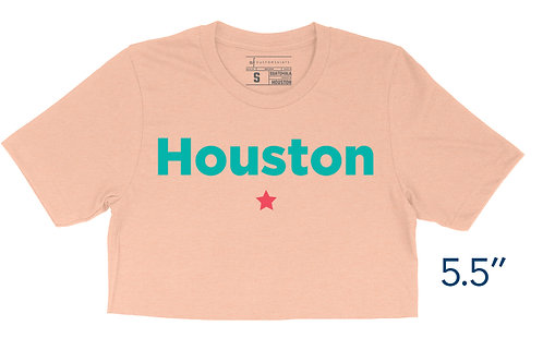 Peach Houston Shirt - Crop Top