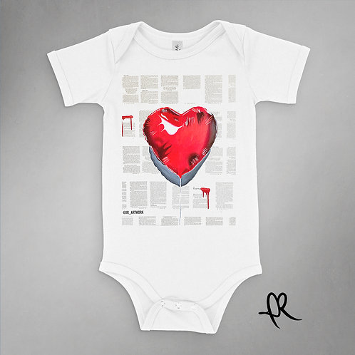 Balloon Heart - Onesie - White