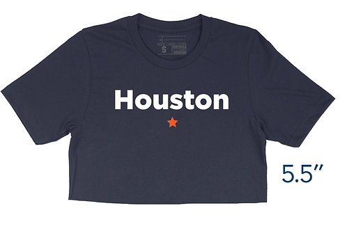 Houston Star Navy - Crop Top