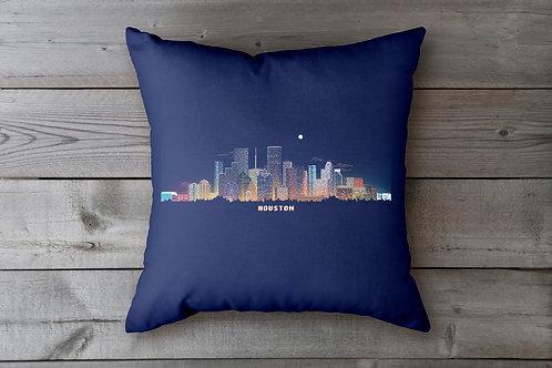 Houston Skyline Pillowcase