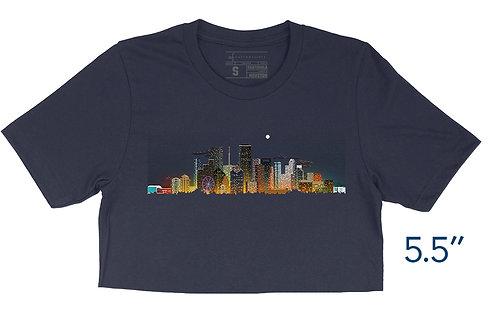 Houston 8-bit Skyline - Crop Top