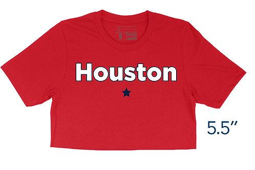 Houston Star Red - Crop Top