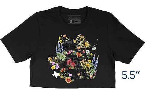 Houston Wildflowers Black - Crop Top