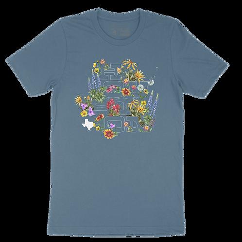 Houston Wildflowers - Steel Blue
