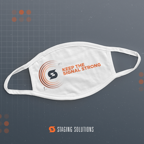 SSI - Keep the Signal Strong (Orange on White) - Face Mask