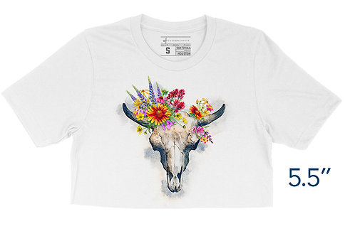 Wildflower Gothic White - Crop Top