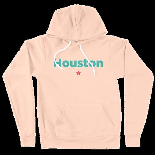 Houston Star Hoodie - Peach