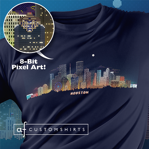 Houston 8-bit Skyline