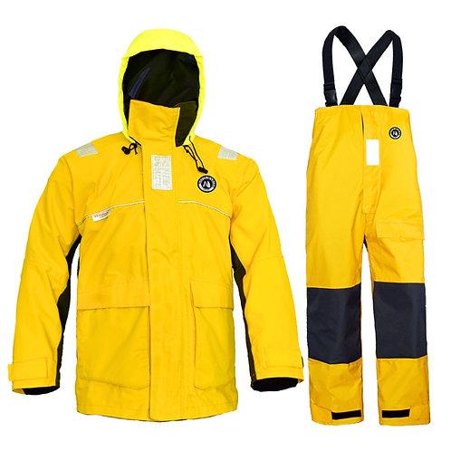 Sailing Jacket with Bib Pants Overall Waterproof for Men Women Fishing Rain Suit