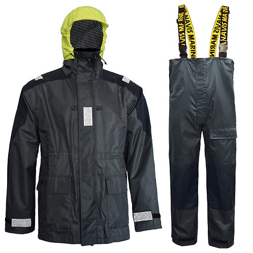 Navis Marine Coastal Sailing Jacket with Bib Pants Fishing Rain Suit