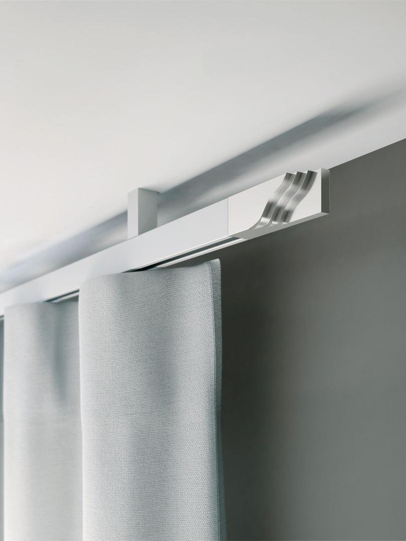 MHZ-15 Vorhang Montier-System silber